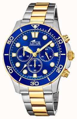Lotus Men's Two-Tone Steel Bracelet | Blue Chronograph Dial L18757/1