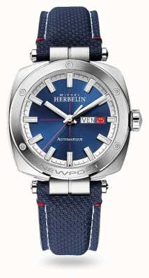 Michel Herbelin Newport Heritage Automatic | Blue Leather Strap | Blue Dial 1764/42