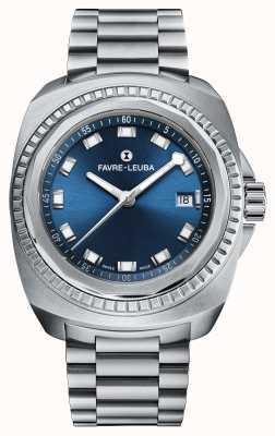 Favre Leuba Raider Sea King   Stainless Steel Bracelet   Blue Dial 00.10107.08.51.20