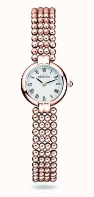 Michel Herbelin Perles | Women's Rose Gold Plated Steel Bracelet | White Dial 17433/BPR08