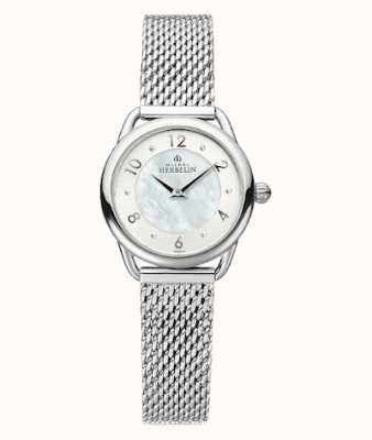 Michel Herbelin Equinoxe | Women's Steel Mesh Bracelet | Mother Of Pearl Dial 17497/29B