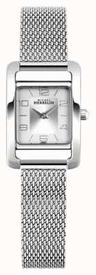 Michel Herbelin Vth Avenue | Steel Mesh Bracelet | Silver Rectangle Dial 17437/21B