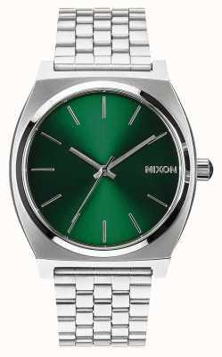 Nixon Time Teller | Green Sunray | Stainless Steel Bracelet | Green Dial A045-1696-00