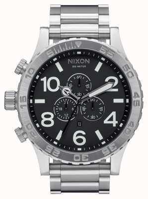 Nixon 51-30 Chrono | Black | Stainless Steel Bracelet | Black Dial A083-000-00