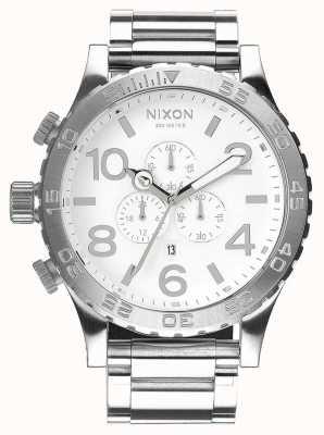 Nixon 51-30 Chrono | High Polish / White | Stainless Steel Bracelet | White Dial A083-488-00