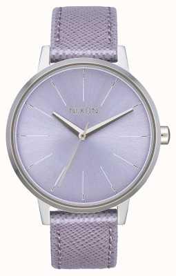 Nixon Kensington Leather | Lavender | Lavender Leather Strap | Lavender Dial A108-236-00