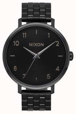 Nixon Arrow | All Black | Black IP Steel Bracelet | Black Dial A1090-001-00