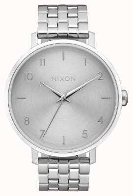 Nixon Arrow | All Silver | Stainless Steel Bracelet | Silver Dial A1090-1920-00