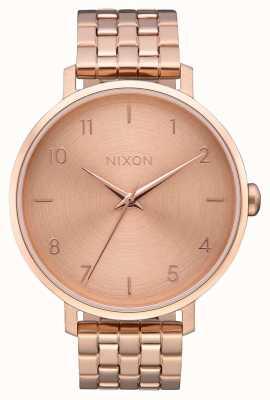 Nixon Arrow   All Rose Gold   Rose Gold IP Steel Bracelet   Rose Gold Dial A1090-897-00