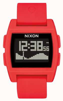 Nixon Base Tide   Red   Digital   Red silicone Strap A1104-200-00