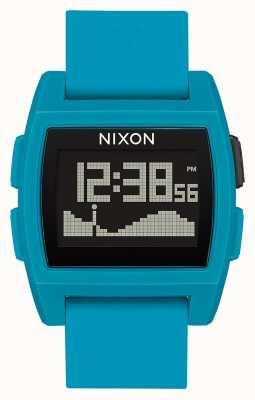 Nixon Base Tide | Blue Resin | Digital | Blue Silicone Strap A1104-2556-00