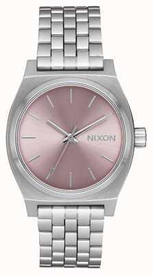 Nixon Medium Time Teller | Silver / Pale Lavender | Stainless Steel Bracelet | A1130-2878-00