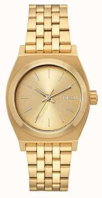 Nixon Medium Time Teller   All Gold   Gold IP Steel Bracelet   Gold Dial A1130-502-00