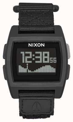 Nixon Base Tide Nylon | All Black | Digital | Black Nylon Strap A1169-001-00