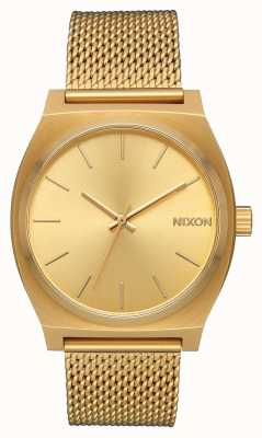 Nixon Time Teller Milanese   All Gold   Gold IP Steel Mesh   Gold Dial A1187-502-00
