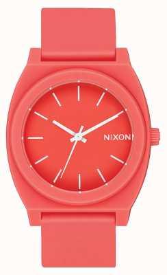 Nixon Time Teller P   Matte Coral   Coral Silicone Strap   Coral Dial A119-3013-00
