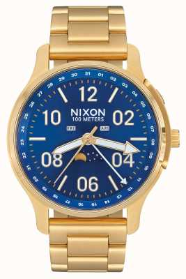 Nixon Ascender | All Gold / Blue Sunray | Gold IP Steel | Blue Dial A1208-2735-00