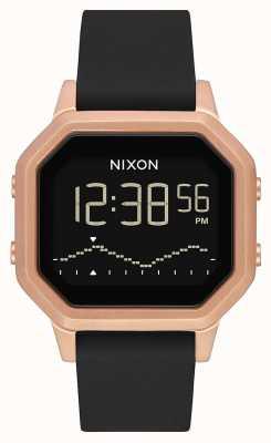 Nixon Siren SS | Rose Gold / Black | Digital | Black Silicone Strap A1211-1098-00