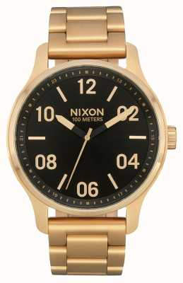 Nixon Patrol | Gold / Black | Gold IP Steel Bracelet | Black Dial A1242-513-00