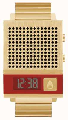 Nixon Dork Too | All Gold | Digital | Gold IP Steel Bracelet | Talking A1266-502-00