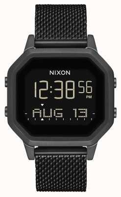 Nixon Siren Milanese | All Black | Digital | Black IP Steel Mesh | A1272-001-00