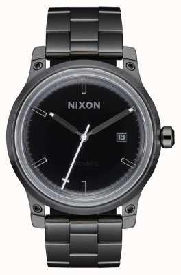 Nixon 5th Element | Black / Gunmetal | Black IP Steel Bracelet A1294-1420-00