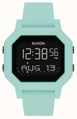 Nixon Siren | Aqua | Digital | Turquoise Silicone Strap A1311-2930-00