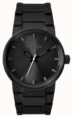 Nixon Cannon | All Black | Black IP Steel Bracelet | Black Dial A160-001-00