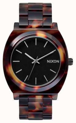 Nixon Time Teller Acetate   Tortoise   Black Dial A327-646-00