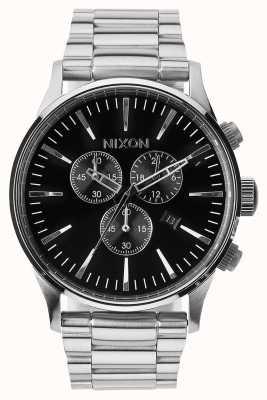 Nixon Sentry Chrono | Black | Stainless Steel Bracelet | Black Dial A386-000-00