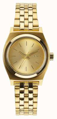 Nixon Small Time Teller   All Gold   Gold IP Steel Bracelet   Gold Dial A399-502-00