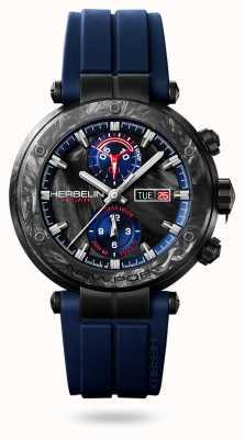 Michel Herbelin Newport Régate Carbone | Blue Silicone Strap | Carbon Case 288/CN45CB