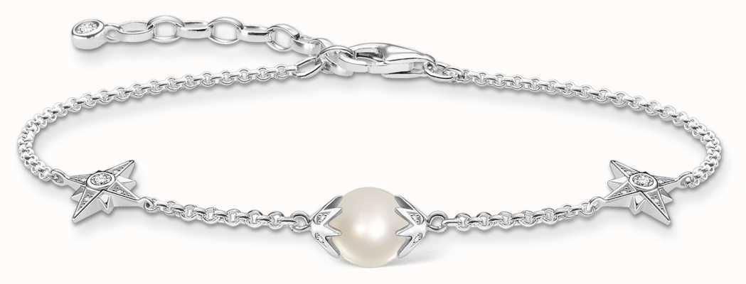 Thomas Sabo Sterling Silver Freshwater Pearl Bracelet A1978-167-14-L19V