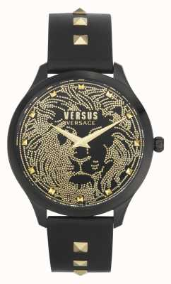Versus Versace Women's Domus | Black Leather Strap | Black Dial VSPVQ0520