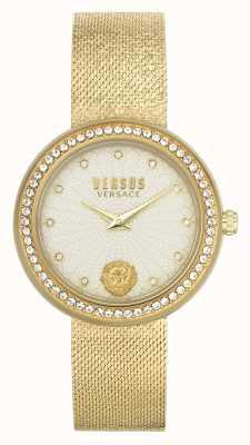 Versus Versace | Women's | Lea | Gold Mesh Bracelet | Champagne Dial | VSPEN1520