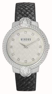 Versus Versace Women's Mouffetard | Black Leather Strap | White Dial VSPLK1120
