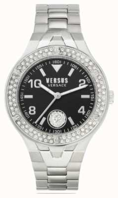 Versus Versace Women's Vittoria | Stainless Steel Bracelet | Black Dial VSPVO0520