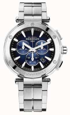Michel Herbelin Men's Newport Chronograph | Stainless Steel Bracelet | 37688/B35