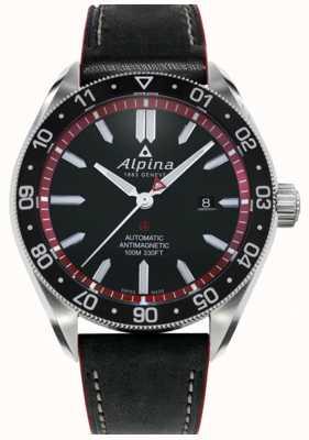 Alpina Alpiner 4 | Black Leather Strap | Black Dial | Automatic AL-525BR5AQ6