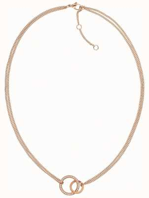 Tommy Hilfiger   Rose Gold Tone   Double Open Circle   Necklace   2780078