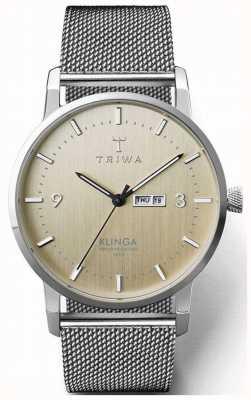 Triwa Men's Birch Klinga Steel Mesh | Champagne Dial KLST108-ME021212