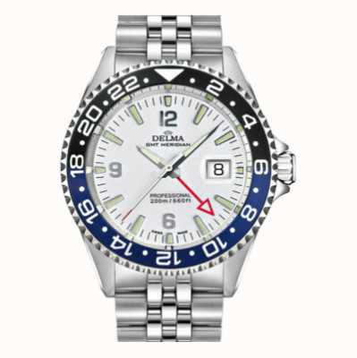Delma Santiago GMT | Steel Bracelet | White Dial 41701.648.6.014