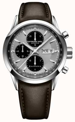 Raymond Weil Men's Freelancer | Brown Leather Strap | Silver Dial 7732-STC-65201