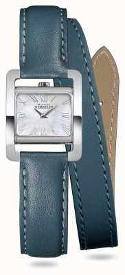 Michel Herbelin V Avenue | Duck Green Double Wrap Around Leather Strap 17037/09BVL