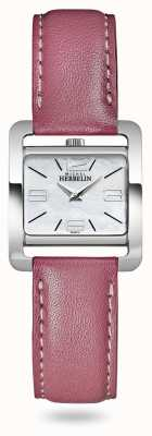 Michel Herbelin V Avenue | Pink Leather Strap | Mother Of Pearl Dial 17137/19ROZ