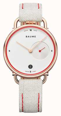 Baume & Mercier BAUME | Eco Friendly Quartz | White Dial | White Cork Backed Strap M0A10602