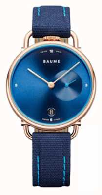 Baume & Mercier BAUME | Eco-Friendly Quartz | Blue Cork Backed Strap M0A10603