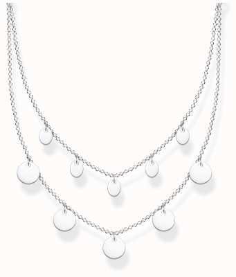 Thomas Sabo Sterling Silver | Double Disc Necklace KE2106-001-21-L45V