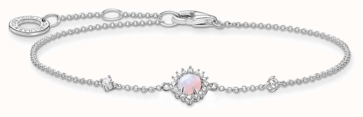 Thomas Sabo Vintage Shimmering Pink Opal Effect Bracelet A2023-166-7-L19V