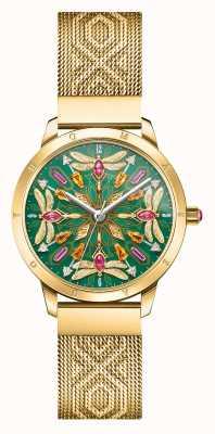 Thomas Sabo Glam & Soul | Gold Tone Mesh Bracelet | Gemstone Dragonfly D WA0369-264-211-33